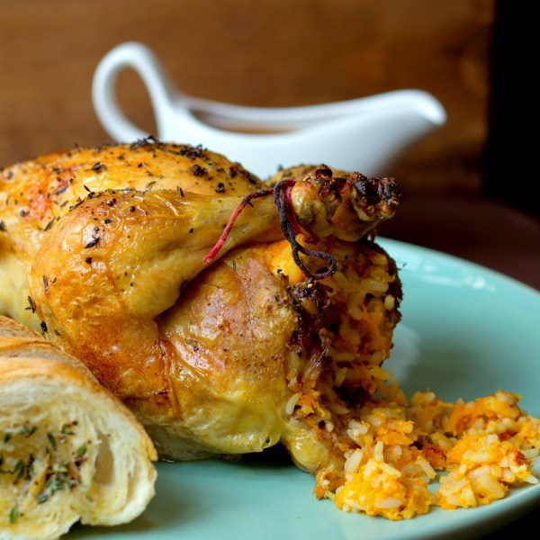 Roast chicken with butternut stuffing 2
