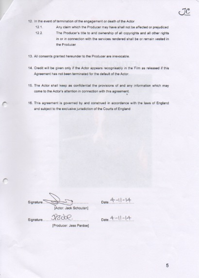 Jess Pardoe MDX BA Film 2016 Page 18 - Actor Release Forms