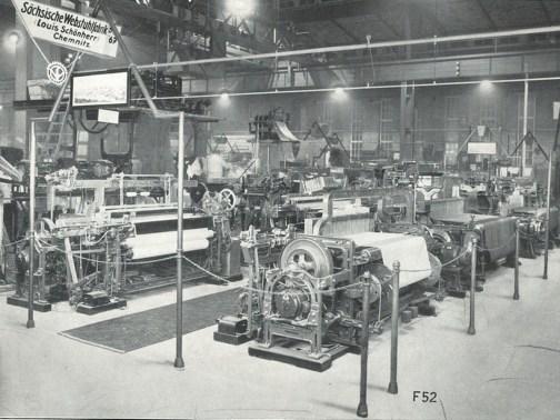 Historische Aufnahme Webmaschinenhalle