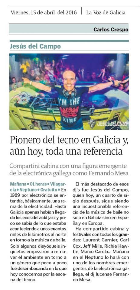 La Voz de Galicia Neptuno 15 abr 2016