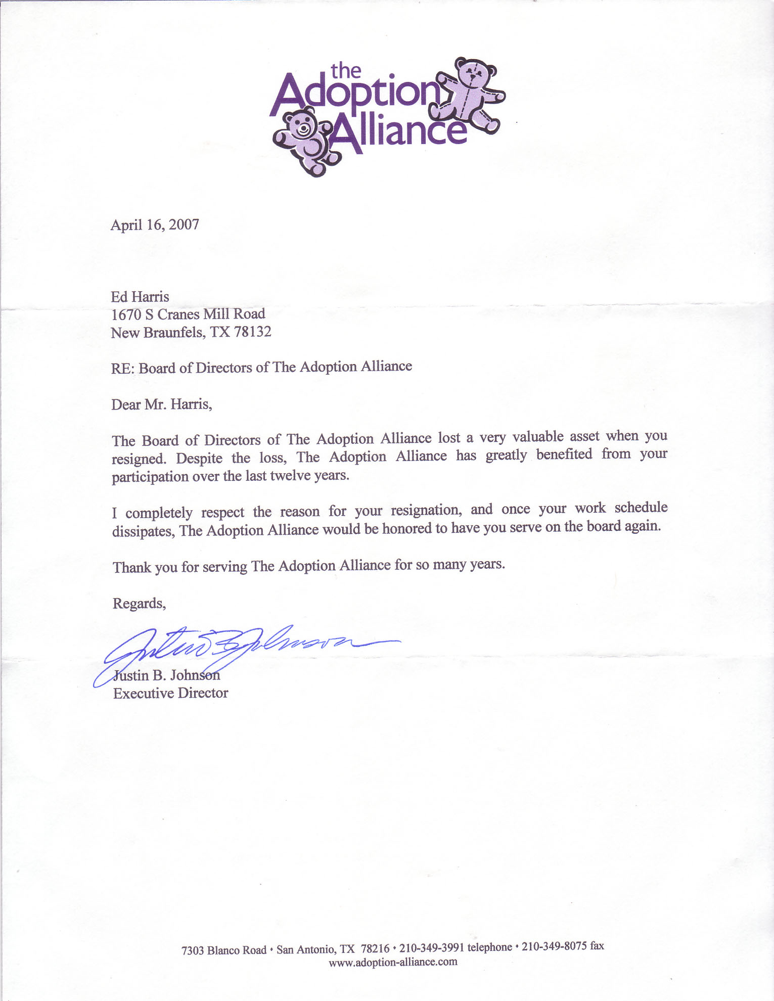 Adoption Reference Letter For Son | Cover Letter And Resume ...