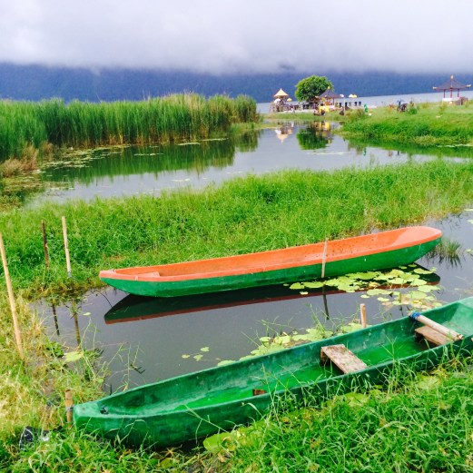 Lake Bratan boats