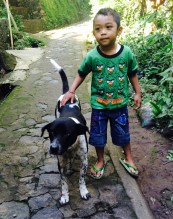 Munduk Bali - boy and dog