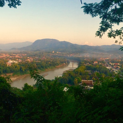 Sunset Luang Prabang from the back of Wat Chom Si