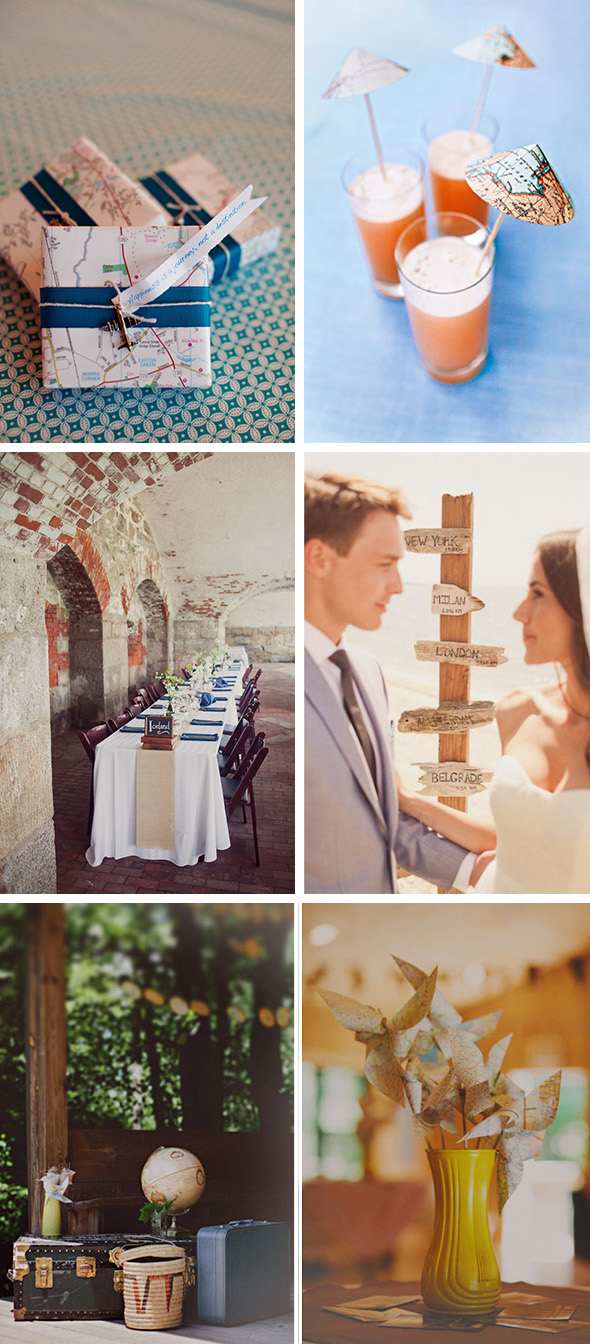Travel Theme Ideas Travel Theme Destination Wedding Ideas The Destination Wedding