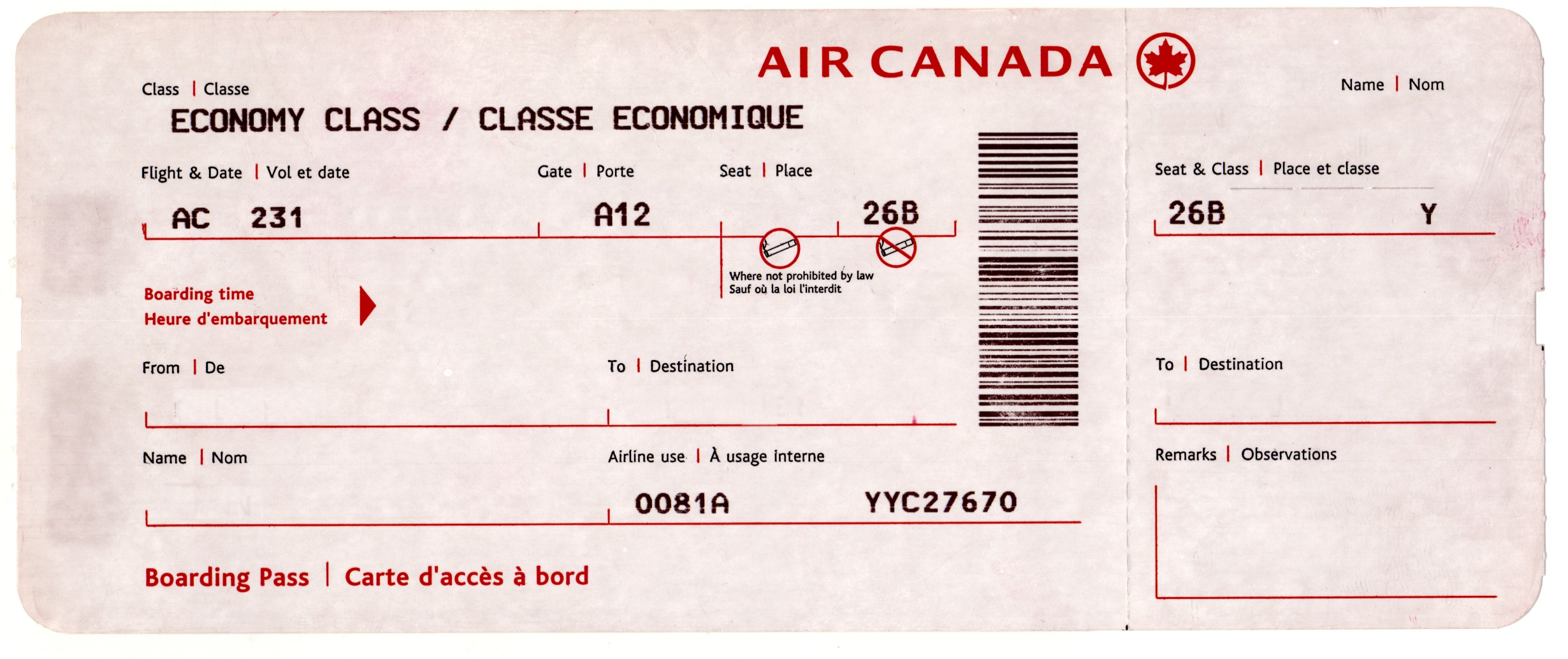 fake boarding pass template