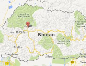 map punakha bhutan