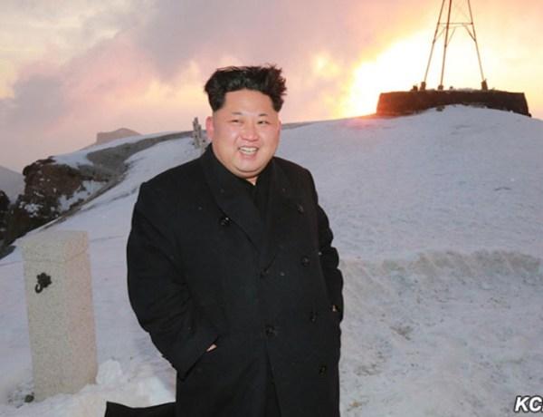 KCNA Kim Jong-un mountain Paektu 3