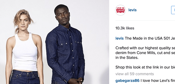 levi sponsored ad instagram