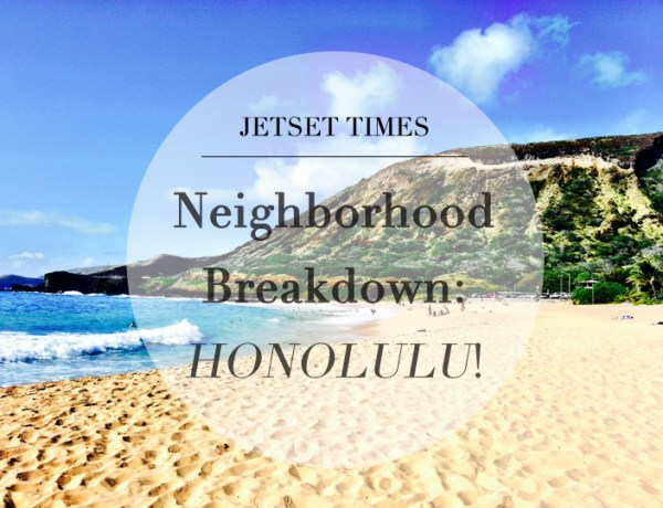 Neighborhood Breakdown Honolulu