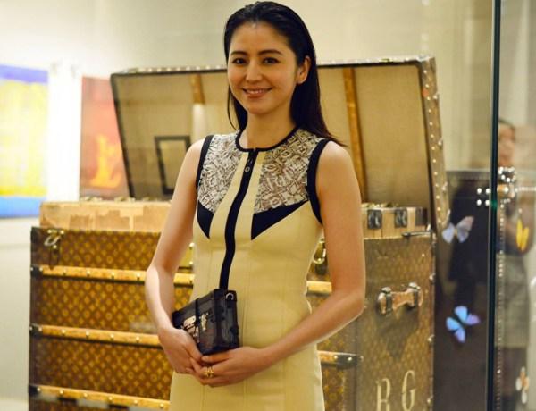 Masami Nagasawa at the %22Volez, Voguez, Voyagez - Louis Vuitton%22 Exhibition opening in Tokyo.