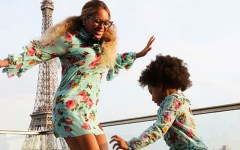 Beyonce Blue Ivy jump Paris