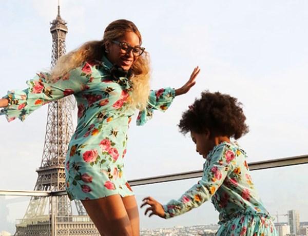 Beyonce Blue Ivy jump Paris