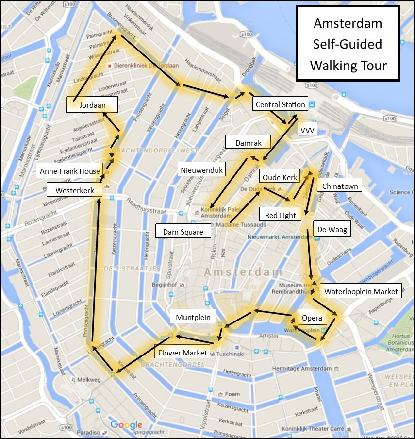 9 Straatjes Amsterdam Plattegrond One Day In Amsterdam Self-guided Walking Tour: 15 Sights