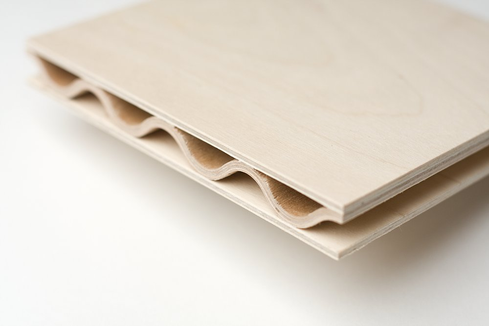 Jetson Green New Corrugated Fsc Plywood By Corelam - Panel Contrachapado