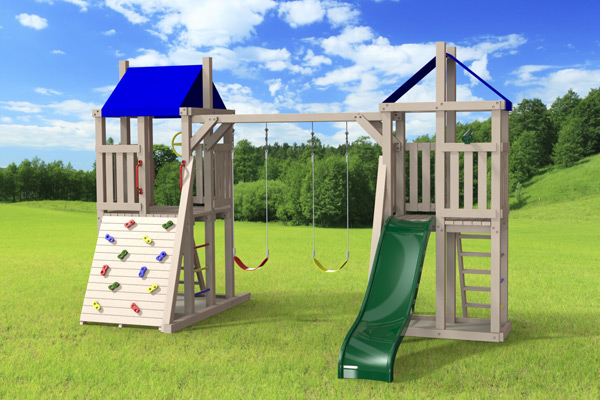 Grand Jeux Exterieur Outdoor Swing Set The Demi-tour 4x4 - Jeux Modul'air