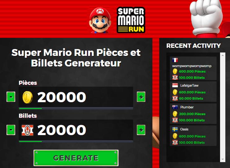 Super Mario Run Triche Astuce En Ligne Pi Ces Et Billets