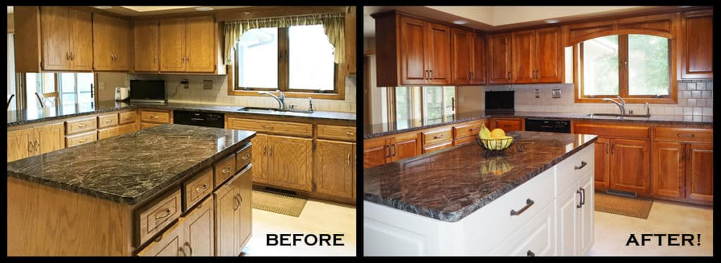 Refaced Cabinets Before And After