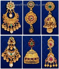 Six Traditional Antique Earring Designs - Jewellery Designs