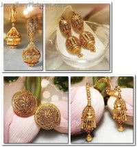 Antique Earrings from Tanishq Divyam Collection ...