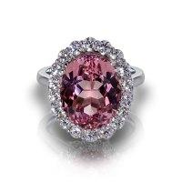 Pink Malaya Garnet Ring