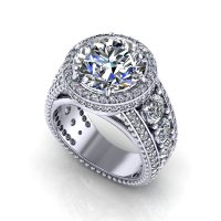 3 Carat Halo Engagement Ring - Jewelry Designs
