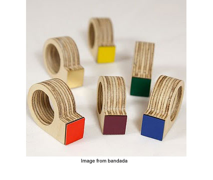 Mirador rings from recycled wood