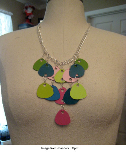 Paint chip necklace from Joanne