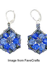 crystal earrings from Bonnie Clewans