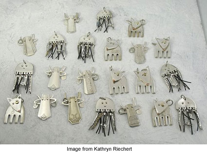 Flatware animals from Kathryn Riechert