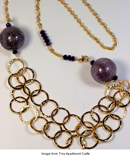 Hammered Chain Statement Necklace from Tiny Apartment Crafts