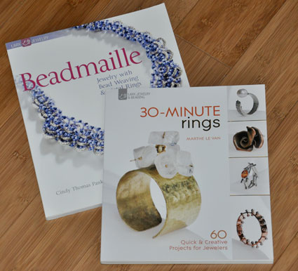 cover art for Lark Books' Beadmaille and 30-Minute Rings