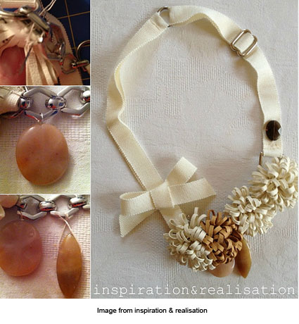 leather corsage necklace from inspiration & realisation