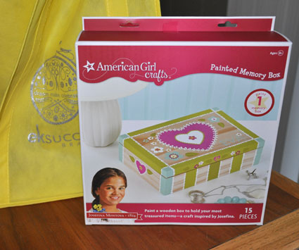 American Girl  Crafts Painted Memory Box