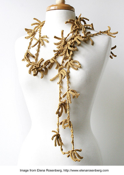 Sea Kelp lariat from Elena Rosenberg