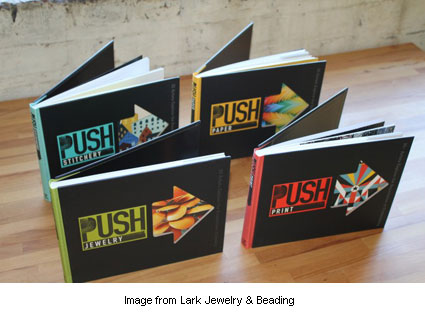 cover art of four books from Lark's new PUSH gallery series