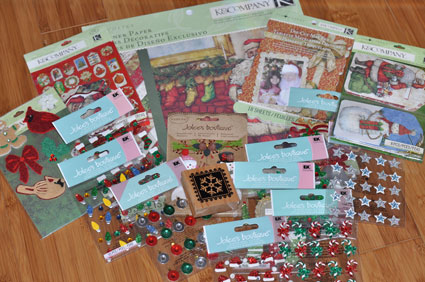 Giveaway goodies from EK Success Brands to help make your holidays festive!