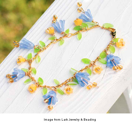 blooming flowers bracelet from Cathe Holden's Shrink Shrank Shrunk