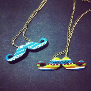 Fancy Mustache Necklaces