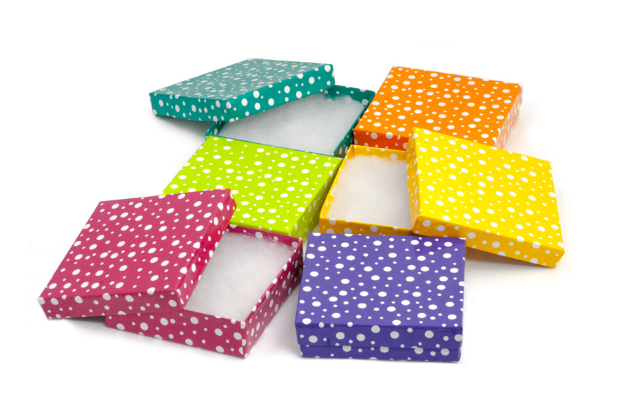 Bulk Small Jewelry Boxes Polka Dot Multi Color Size 33 Gift Box Assortment Where