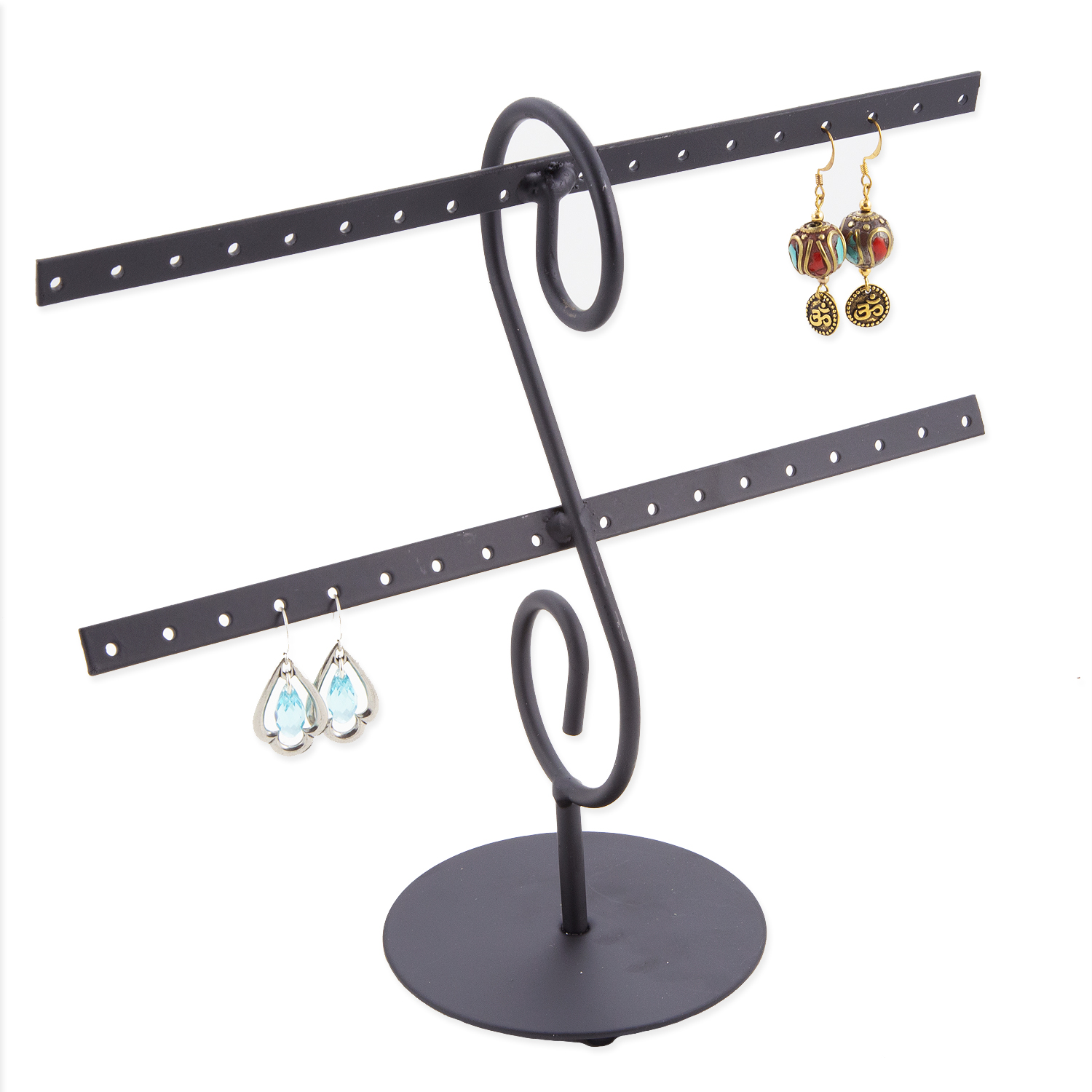 Wholesale Jewelry Packaging Metal Earring Rack Jewelry Display Holds16 Pairs
