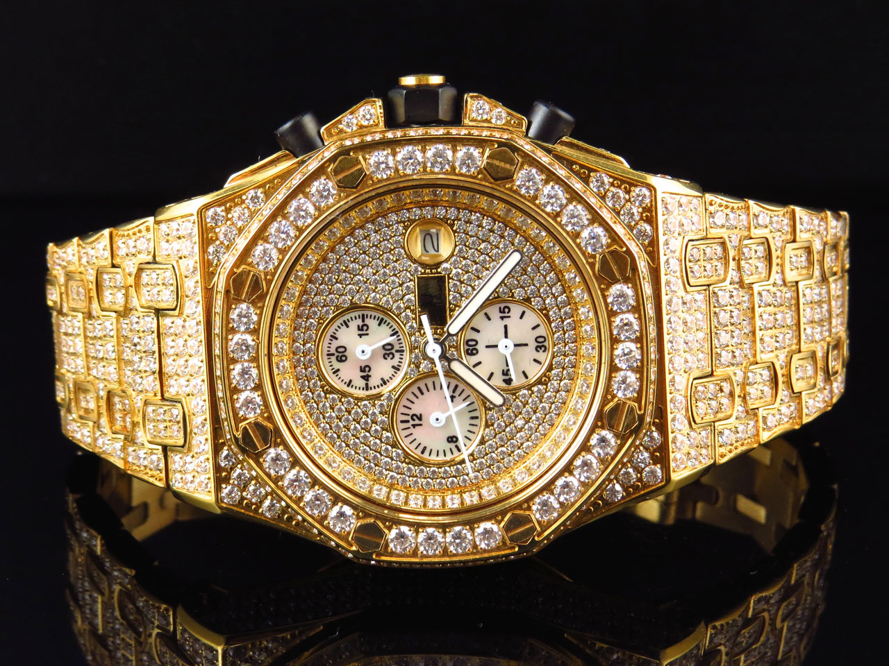 Diamond Watch Men 39s Jewelry Unlimited Jojino Joe Rodeo Gold Lab Diamond