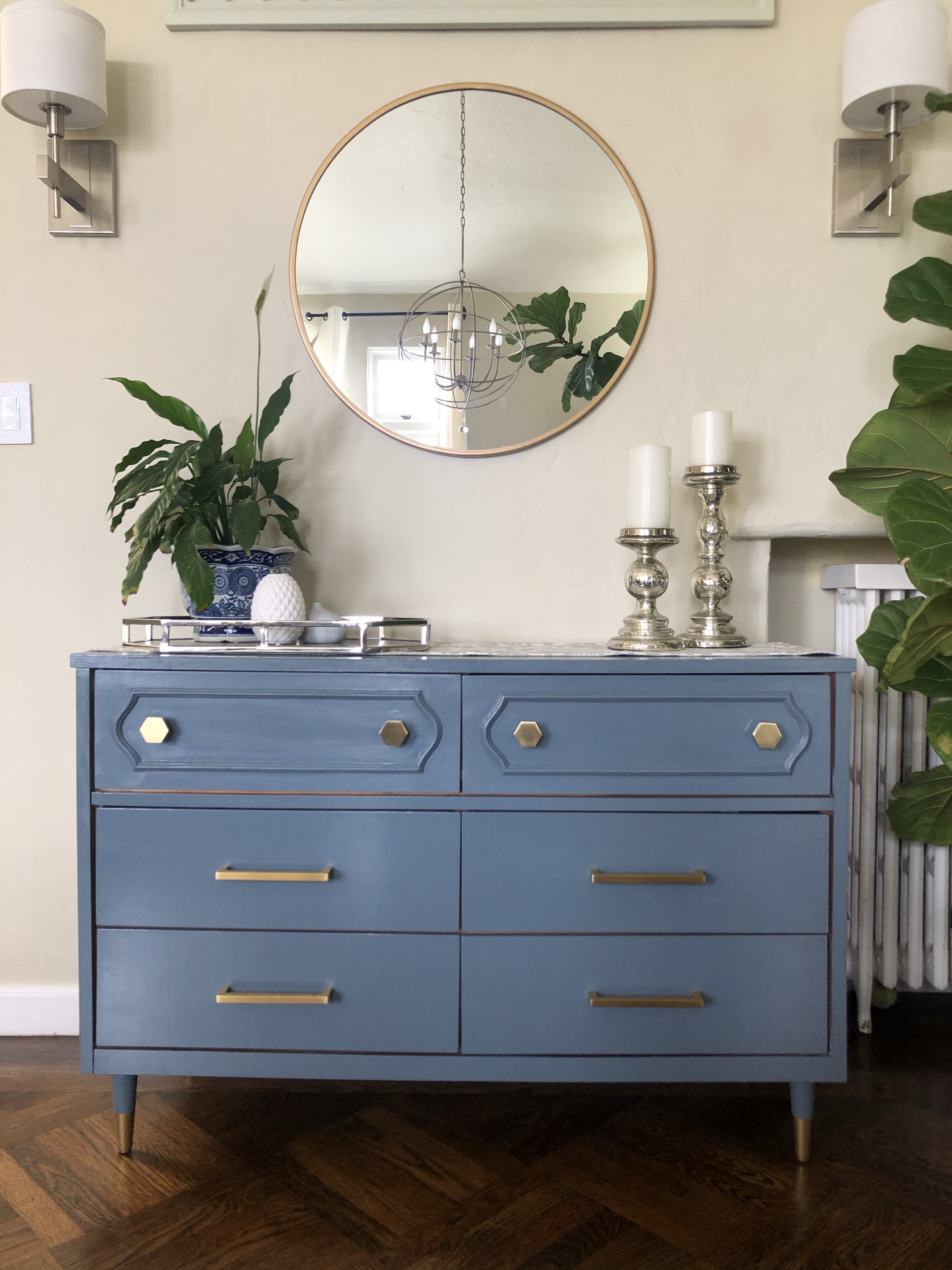 Mid Century Dresser Makeover How To Paint Laminate Furniture Jewels At Home
