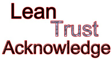 Trust, Lean and acknowledge Him