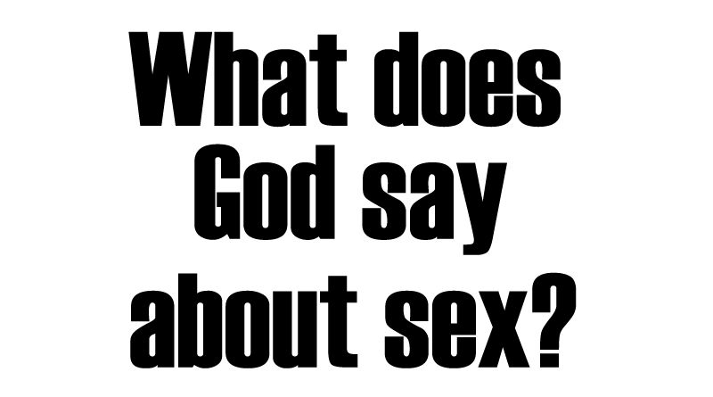 what does god say about sex