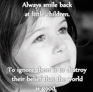 always smile back at children