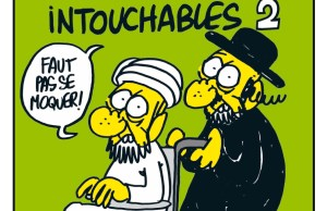 "A Recent Charlie Hebdo issue:The caption reads  ""Must Not Mock"""