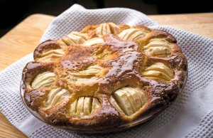 David Tanis' Aunt Edith Apple Kuchen with Honey and Ginger (NYT)