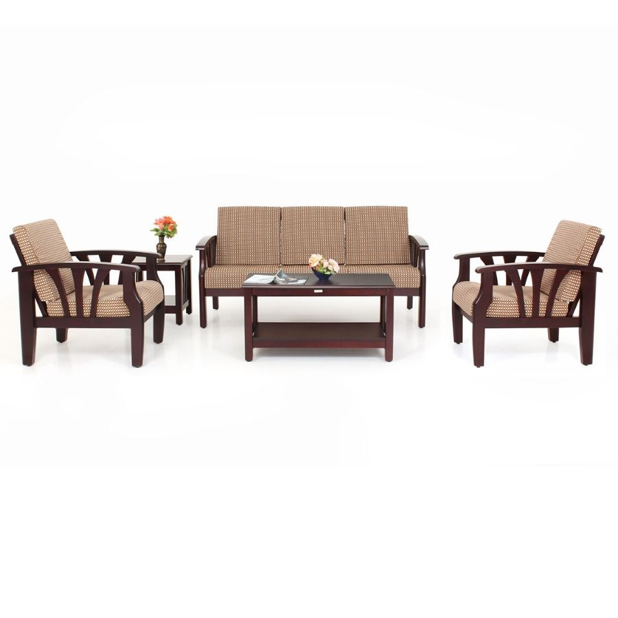 Wooden Sofa Opal Wooden Sofa 3 1 1 Set
