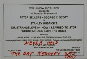 Dr. Stranglove ticket